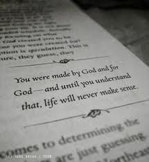... you understand that, life will never make sense.
