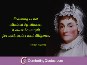 Abigail Adams Quotes on Education