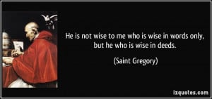 Saint Gregory Quote