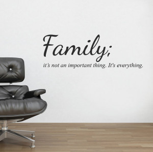 Family Wall Sticker Decal Quote Mural Wall Vinyl Stencil Words ...