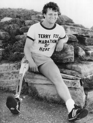 Terry Fox [PHOTO: LEGION MAGAZINE ARCHIVES]