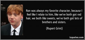 ... hair, we both like sweets, we've both got lots of brothers and sisters