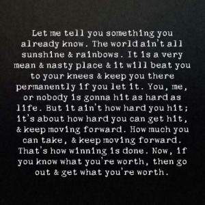 ... how hard you can get hit & keep moving forward - Rocky Balboa quotes