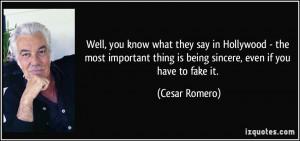 More Cesar Romero Quotes