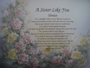 Details about SISTER PERSONALIZED POEM BIRTHDAY OR CHRISTMAS GIFT