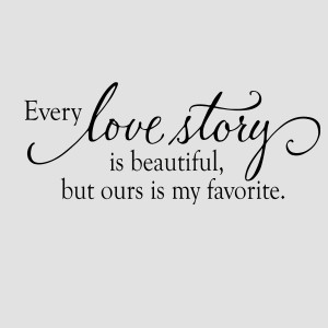 Every Love Story Is Beautiful Alt wall decal