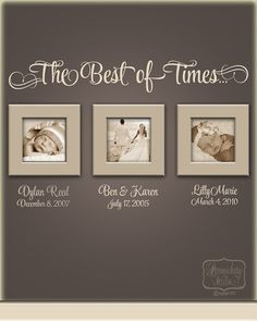 The Best of Times... - vinyl wall quote with Personalized name and ...