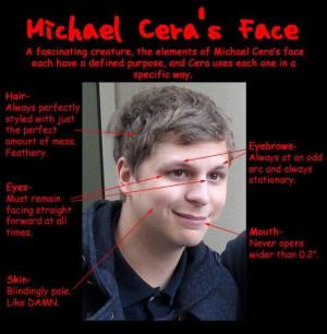 Michael Cera's face