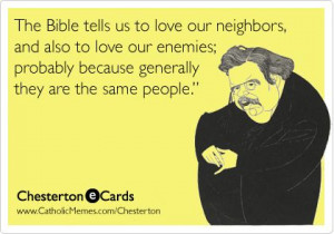 Love Your Neighbors and Enemies