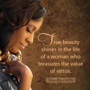 Treasure the Value of Virtue