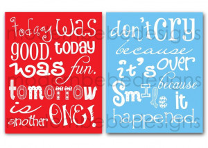 Seuss Quotes | TWO 8x10 Dr. Seuss Quotes by MODERN BEBE for birthday ...
