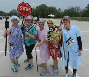 Old Lady Runner Team Golden Girls Race Costume