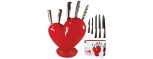 Broken Hearts With Knife Broken heart knife block