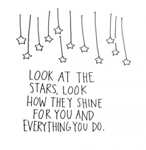 quotes stars look at the stars shining stars stars that shine they ...