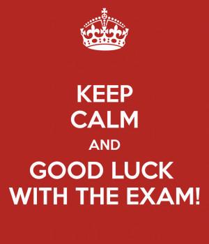 Good Luck For Final Exam Good