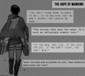 Anime quotes Attack on titan