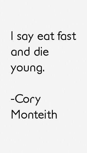 Cory Monteith Quotes amp Sayings