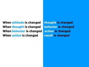 Best Attitude Quotes Ever When attitude is changed