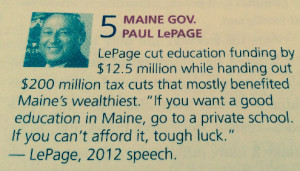 LePage cut education funding by $12.5 million while handing out $200 ...