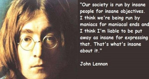 Happiness Quotes Famous John Lennon Quote The Day