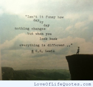 Lewis – Everything is different.