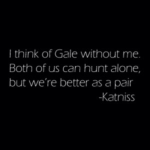 Katniss and Gale Katniss Quotes about Gale