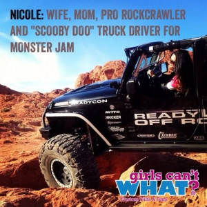 Love this photo from monster truck driver Nicole. That looks like a ...