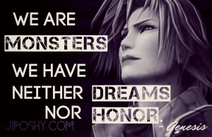 FINAL FANTASY CRISIS CORE QUOTES FOR THE SOLDIER IN YOU