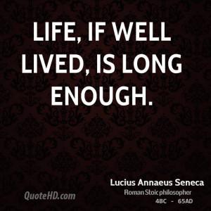 Lucius Annaeus Seneca Life Quotes