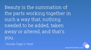 Community Working Together Quotes The parts working together