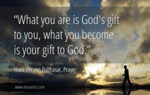 quote from Hans Urs von Balthasar, Prayer