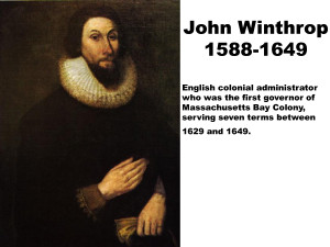 """john winthrop a model of christian The journal of john winthrop notice how this is different from the colonizing aims expressed by john in """"a model of christian charity,"""" winthrop argues."""