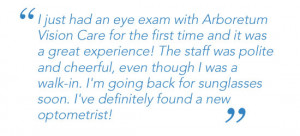 Patient Testimonial - I just had an eye exam at Arboretum Vision Care ...
