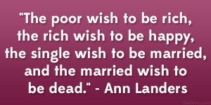Ann Landers Quote
