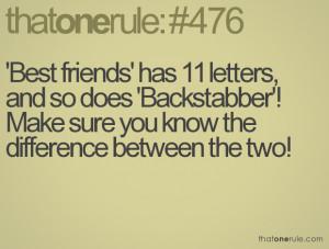 Backstabber Friend Quotes