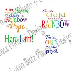 ... download of Baby Quotes and Rainbow Baby Quote on Transparent