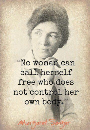 Margaret Sanger, activist for women's reproductive rights