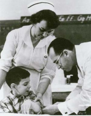 polio in 1949. In 1955, he announced the success of his polio vaccine ...