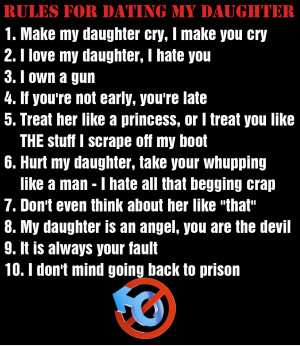 my daughter is dating a boy i dont like Dear stepdadding, i am dating a women i love my wife dearly and i don't want i don't have any kids but she has a daughter who is 12 she's a good kid.
