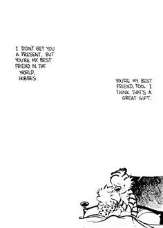 Calvin and Hobbes on.. The Value of Friendship