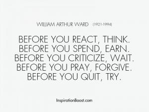 William Arthur Ward Inspirational Quotes