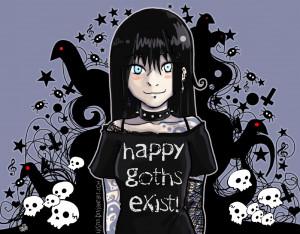 Happy Gothics Happy Goths Exist!