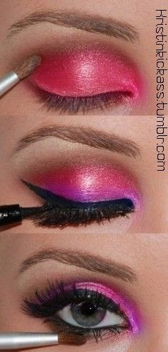 steps to put on eye shadow