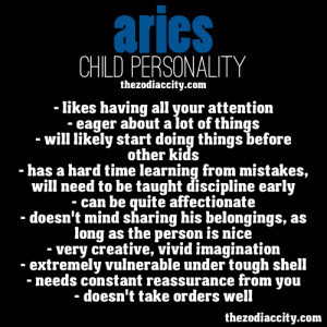 Aries Child Personality.