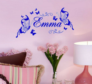 Leave name in order)personal Name Butterflies - Say Quote Word ...