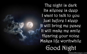 Good night love poem to boyfriend from girlfriend