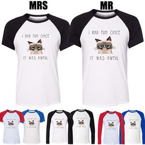 Grumpy-Cat-Quotes-I-Had-Fun-Once-It-Was-Awful-Design-Couple-T-Shirt ...