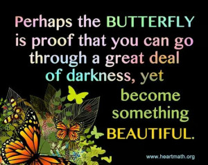 Butterfly become beautiful