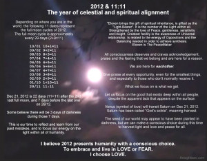 2012 & 11:11 – The year of celestial and spiritual alignment, moon ...