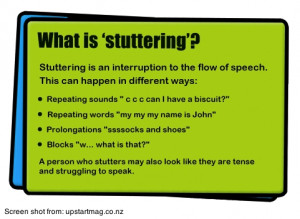... was asked by a reader of the blog if that is the same as stuttering